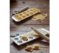 Imperia 12 Hole Ravioli Tray and Rolling Pin
