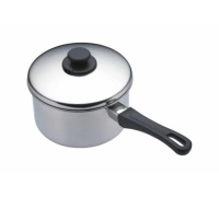 Kitchen Craft Stainless Steel 16cm Extra Deep Saucepan