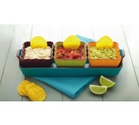 KitchenCraft Mexican 4 Piece Ceramic Dip Serving Set