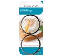 KitchenCraft Set of 2 Non-Stick Poachette Rings