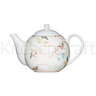 Kitchen Craft Birdcage Fine Porcelain 4 Cup Teapot