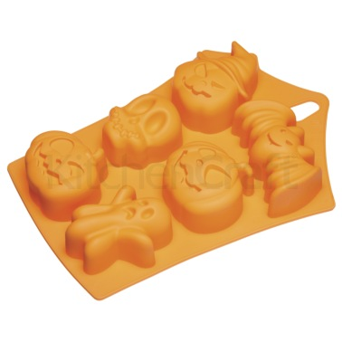 Spookily Does It Silicone Embossed Baking Pan / Jelly Mould