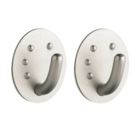 MasterClass Set of Two Professional Stainless Steel Oval Hooks