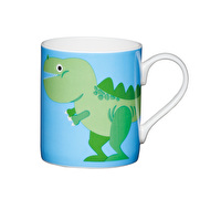 KitchenCraft Set of Four Bone China Dinosaur Mini Mugs