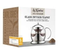 Teiera a infusione in vetro 900ml
