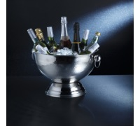 Bar Craft Hammered Stainless Steel Champagne Bowl
