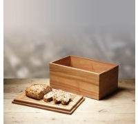 Natural Elements Acacia Wood Bread Box