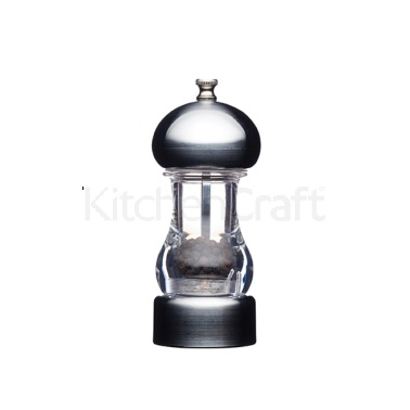 Master Class Tabletop Chrome Effect Filled Pepper Mill