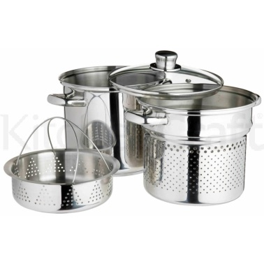 KitchenCraft Stainless Steel 7.5 Litres Multi Cooker