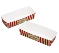 World of Flavours Stateside Pack of 6 Paper Hotdog Trays