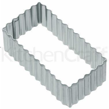 Kitchen Craft 8cm Fluted Rectangular Cookie Cutter