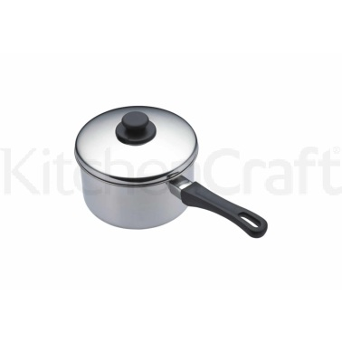 Kitchen Craft Stainless Steel 12cm Extra Deep Saucepan
