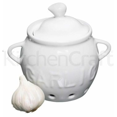 KitchenCraft Porcelain Garlic Storage Pot