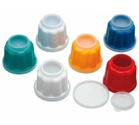 KitchenCraft Pack of 6 Individual Plastic Jelly Moulds