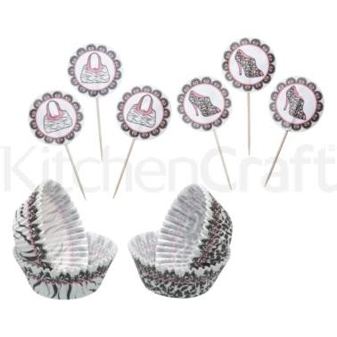 Sweetly Does It Animal Print Patterned Cupcake Kit