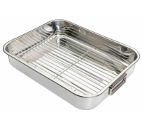Kitchen Craft Stainless Steel 43cm x 31cm Roasting Pan