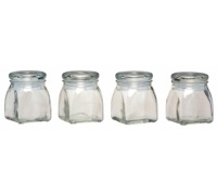 Home Made 4 Piece Glass Spice Jar Set