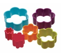 Colourworks Set of 6 Flower Cookie Cutters