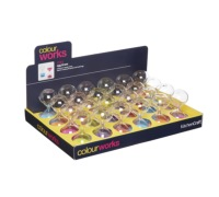 Colourworks Display of 24 Three Minute Miniature Egg Sand Timers