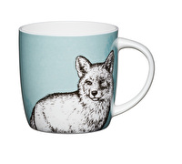 KitchenCraft Set of Four Fine Bone China Fox Mugs