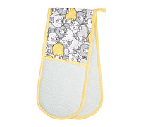 KitchenCraft Yellow Sheep Double Oven Glove