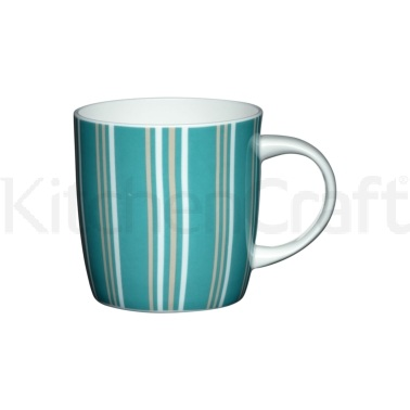 Tazza blu striata in porcellana fine
