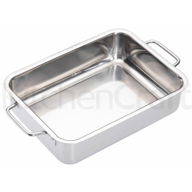 MasterClass Stainless Steel Heavy Duty 27cm x 20cm Roasting Pan