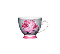 KitchenCraft Set of Four Bone China Pink Flower Mugs
