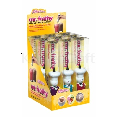 Kitsch'n'Fun Display of 12 'Mr Frothy' Drinks Frothers