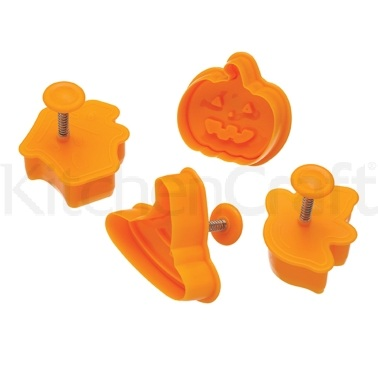 Spookily Does It Set of 4 Assorted Halloween Cookie / Sugarcraft Plunger Cutters