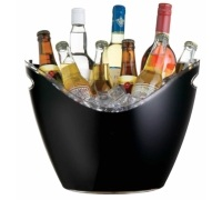 Bar Craft Black Acrylic Drinks Pail / Cooler