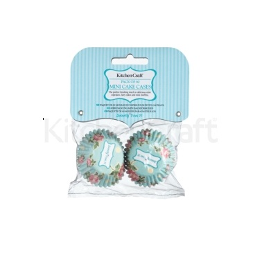 Lot de 80 mini-caissettes cupcake rose vintage