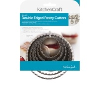 KitchenCraft Set of Six Double Edged Biscuit / Pastry Cutters