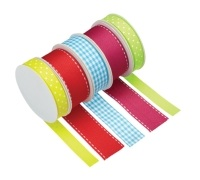 Sweetly Does It Pack of 5 Assorted Bright Ribbons