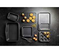 MasterClass Smart Space Seven-Piece Non-Stick Stackable Baking Equipment Set