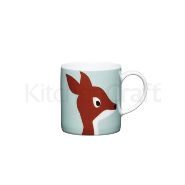 KitchenCraft 80ml Porcelain Deer Espresso Cup