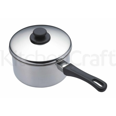 Kitchen Craft Stainless Steel 18cm Extra Deep Saucepan