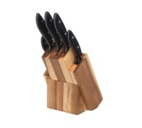 Master Class Argon 5 Piece Knife Set with Wooden Block