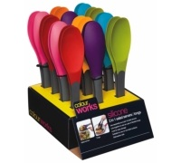 Colourworks Display of 12 Two in One Tongs / Salad Servers