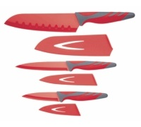 Colourworks 3 Piece Red Knife Starter Set
