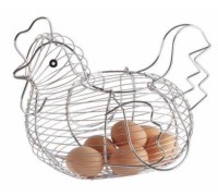 Kitchen Craft Chrome Plated Wire Large Chicken Basket