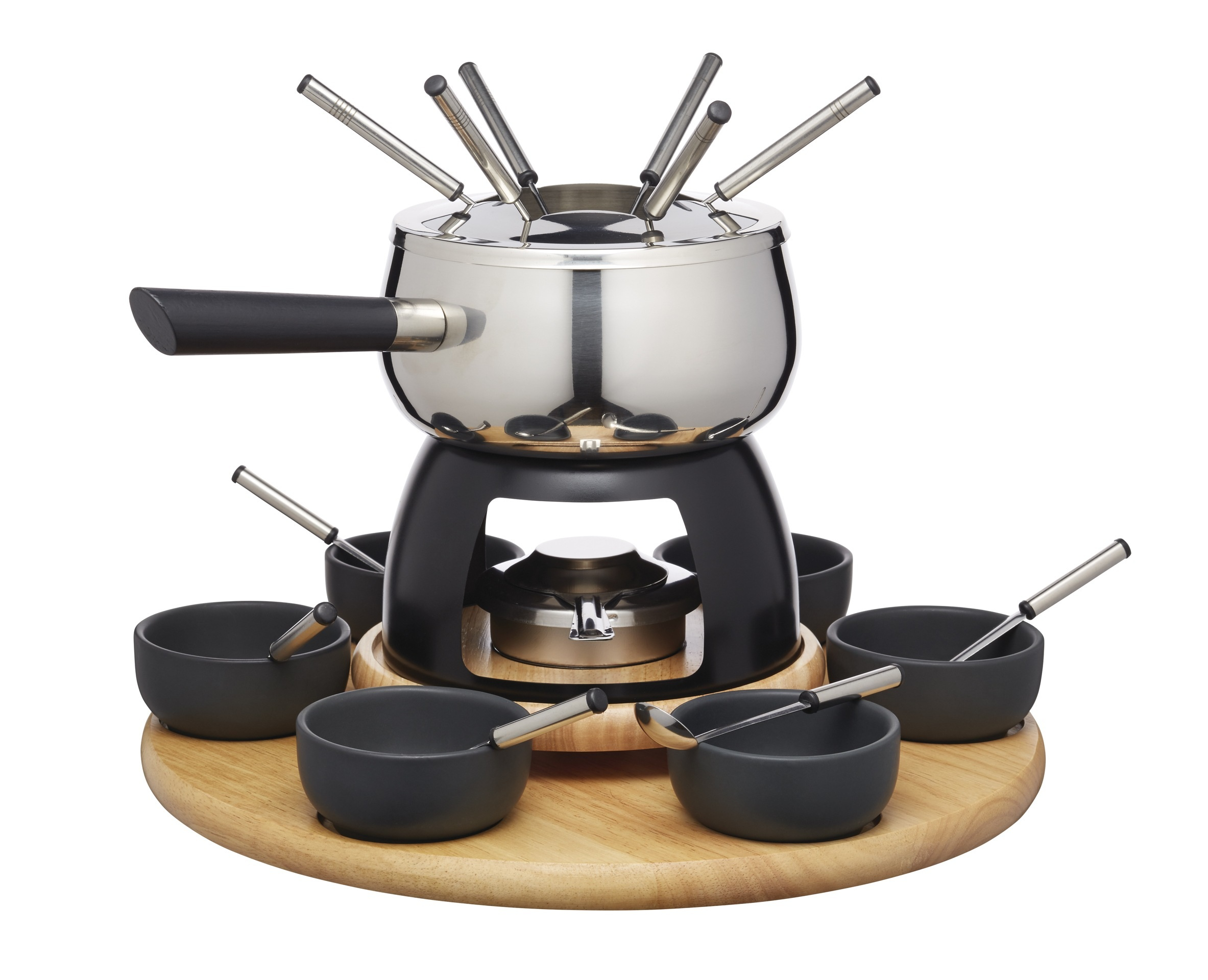 artes six person party fondue set fondues cooking products kitchen craft. Black Bedroom Furniture Sets. Home Design Ideas