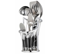 MasterClass Chrome Wire Utensil Holder