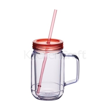 Coolmovers Tutti-Frutti 400ml Double Walled Plastic Drinks Jar