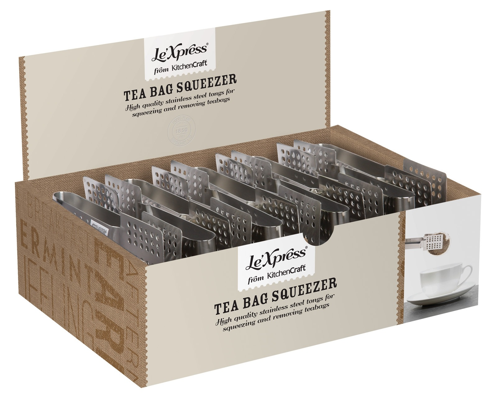 Le xpress wooden tea chest hot drinks accessories for Kitchen xpress overseas ltd contact number