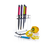 Colourworks 5 Piece Coloured Knife Set and Block