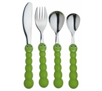 Let's Make 4 Piece Children's Caterpillar Cutlery Set