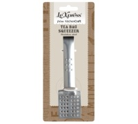 Le'Xpress Stainless Steel Square Teabag Squeezer