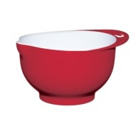 Colourworks Medium Red Melamine Two Tone Mixing Bowl