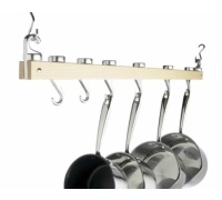 Master Class Deluxe Ceiling Mounted Single Wooden Pot Rack